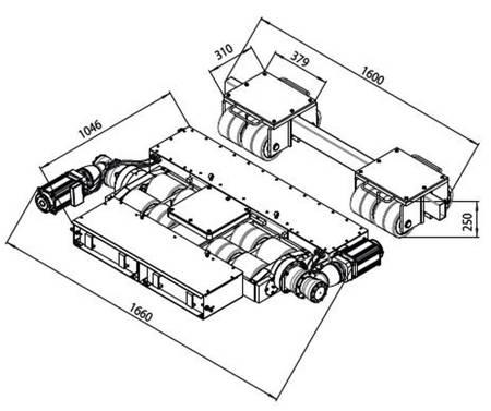 Zdalnie sterowane podwozia, zestaw (nośność: 40T) 49976654