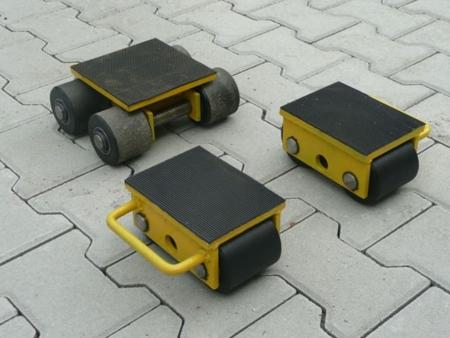 DOSTAWA GRATIS! 12235617 Zestaw wózków, rolki: 8x stal (nośność: 10 T)