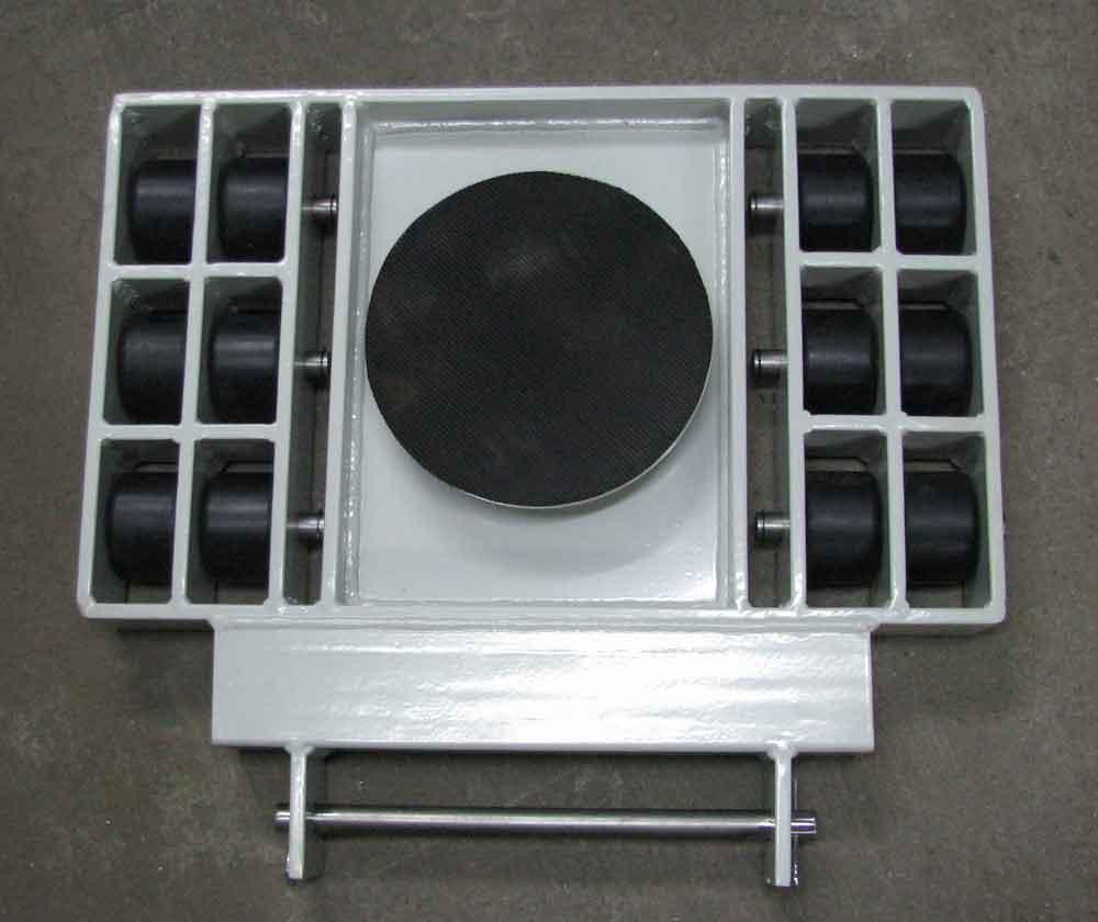 Stalmechon Wózek skrętny do transportu maszyn, urządzeń i sprzętu (rolki: 12x poliamid, nośność: 13 ton) 50276384