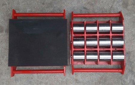 Stalmechon Wózek stały do transportu maszyn, urządzeń i sprzętu (rolki: 25x stal, nośność: 55 ton) 50276374