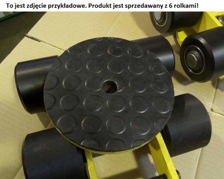 Wózek skrętny z otworem fi 21 w płycie nośnej, 6 rolkowy, rolki: 6x nylon (nośność: 6 T) 12267431