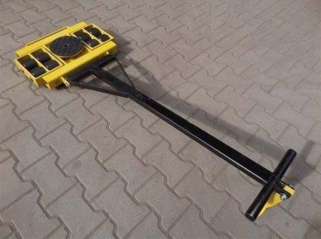 Wózek skrętny z otworem fi 21 w płycie nośnej, 8 rolkowy, rolki: 8x stal (nośność: 12 T) 12267436